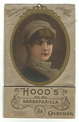 1896 Advertising Premium Calendar Hood's Sarsaparilla CI Hood Lowell MA Full Pad