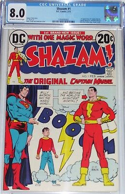 Shazam #1 CGC graded 8.0 1st appearance of Captain Marvel since Golden Age