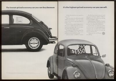 1972 Volkswagen Beetle 'used car' photo print ad