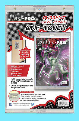 ULTRA PRO ONE TOUCH MAGNETIC CURRENT SIZE COMIC BOOK Holder Storage Display Case