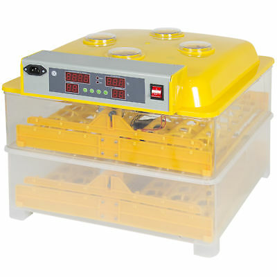96 Digital Clear Egg Incubator Hatcher Automatic Egg Turning Temperature Control