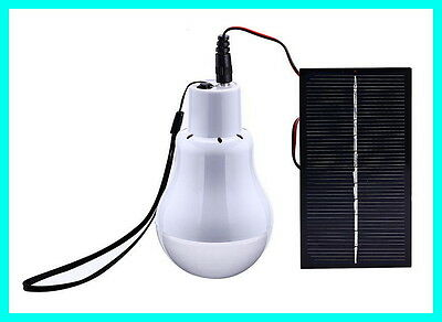 Mini Portable Solar Power Lighting LED Bulb Outdoor Survival Camping Hiking Lamp