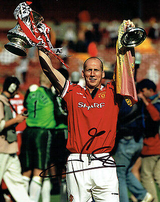 Jaap STAM Signed Autograph 10x8 Photo AFTAL COA Manchester United Genuine RARE