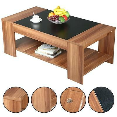 Modern 2 Tier Wooden Coffee Tea Table Living Room Cocktail Tables Brown