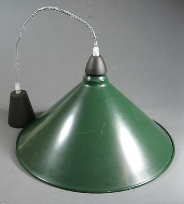 Vintage-style industrial green/white conical ceiling light -warehouse/pool table