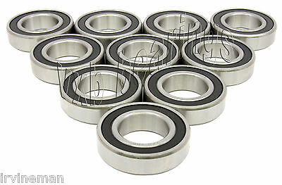 Lot of 10 Rubber Sealed Ball Bearing 6200-2RS RS 10mm Bore 6200RS 6200D 6200L