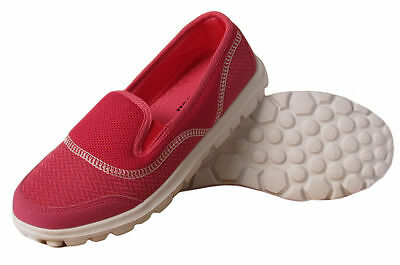 Ladies Womens Airtech Pink Mesh Trainer Casual Sports Outdoor Slip On Shoes Uk