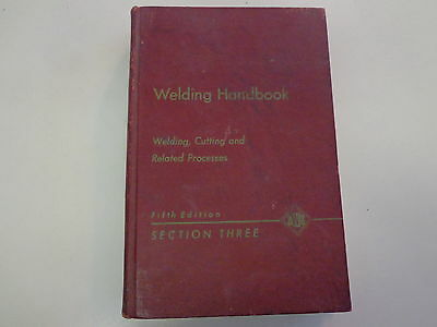 Welding Handbook – Welding, Cutting and Related Processes 1964 Metalworking