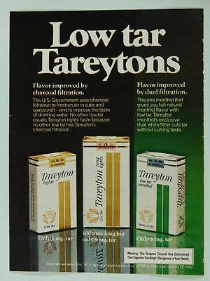 1978 Tareyton Lights and Menthol Cigarettes - Vintage Magazine Ad Page - Tobacco