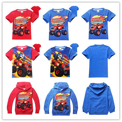 Kids Blaze and the Monster Machines Hoodies/T-Shirts Cartoon Printed Cotton Coat