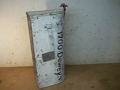Old Shabby White Metal Country Mailbox for Flower Pot Garden Planter