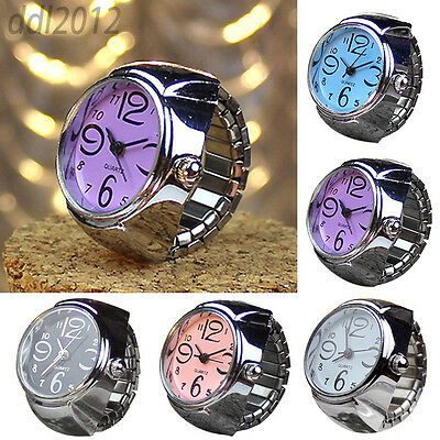Finger Women Men Unisex Watches Stainless Steel Alloy Creative Quartz Ring Watch