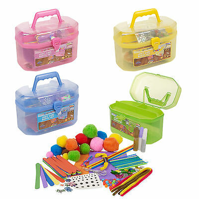 127 Piece Children's Arts & Craft Set Case Carry Handle Girls Boys Gift Xmas NEW