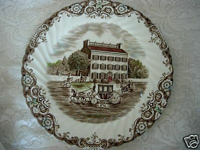 Collectible JOHNSON BROTHERS Heritage Hall #4411 Scenic Plate - Made in England