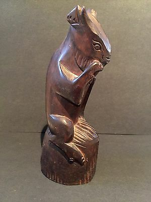 Vintage Indonesian Bali Wood Carved Mythic Hindu Figurine Sculpture