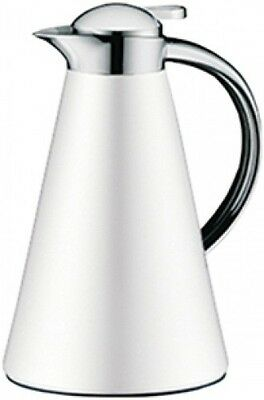 Alfi Isolierkanne 1l Edelstahl weiß Thermoskanne Thermosflasche Camping Outdoor
