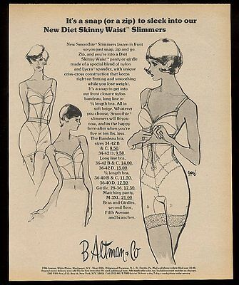 1973 Smoothie bra girdle 3 women art vintage print ad