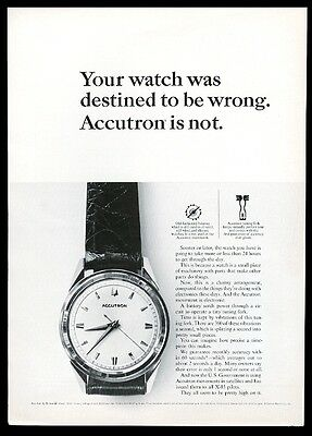 1964 Bulova Accutron 602 watch photo vintage print ad