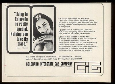 1968 Peggy Fleming photo Colorado Interstate Gas co vintage print ad