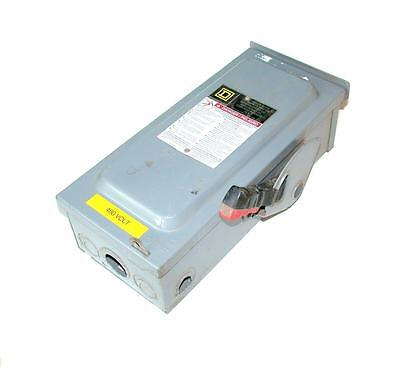 Square D  H361Rb  3-Phase Disconnect Safety Switch 30 Amp 600 Vac