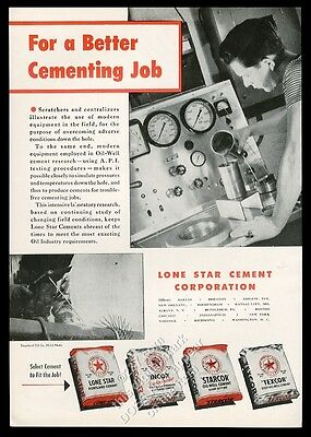 1955 Lone Star Cement oil well drilling cement 4 types vintage print ad