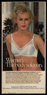 1979 pretty woman photo Warner's Really Something bra lingerie vintage print ad