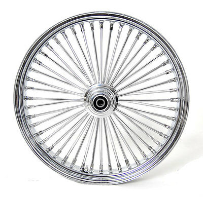 26 x3.5 FRONT WIDE GLIDE WHEEL MAMMOTH 48 FAT SPOKES SINGLE DISC FIT HARLEY