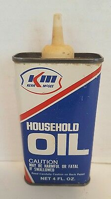 Vintage KM KERR McGEE Household Oil Can, Petroliana
