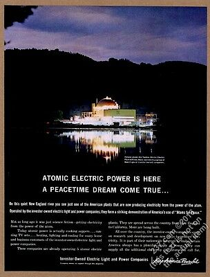 1961 Yankee Atomic Electric Plant Rowe Massachusetts photo vintage print ad