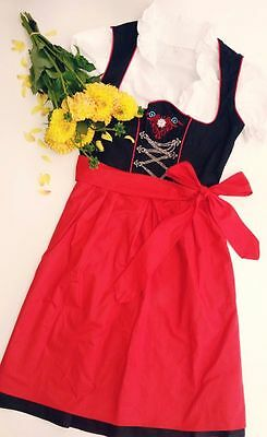 Germany,German,Trachten,Oktoberfest,Dirndl Dress,Costume,3-pc. Sz 4,RED.FREE...