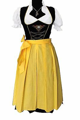 German,Germany,Trachten,Bavarian,Oktoberfest,Dirndl Dress,3-pc.Sz.4,Yellow