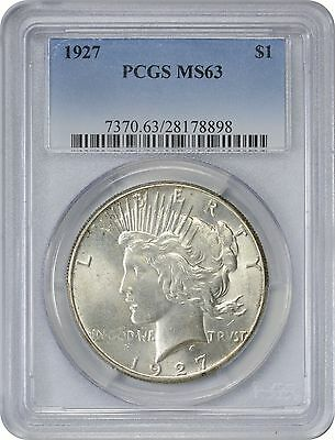 1927 Peace Dollar MS63 PCGS Mint State 63