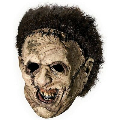 Leatherface Mask with Hair Adult Texas Chainsaw Massacre Scary Halloween Costume