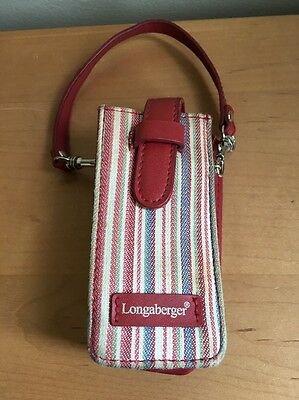 Longaberger Market Stripe Phone Case with strap