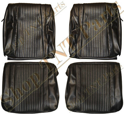 1966 Satellite Seat Covers Front Buckets Western Scroll Pattern Upholstery Vinyl