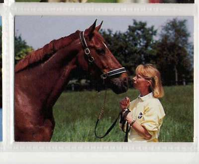 #102 Louise Nathhorst SWE equestrian collector card