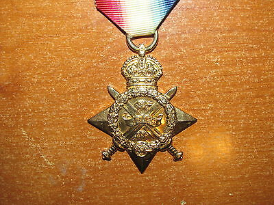 WW1 British Mons 1914 Star Medal Officer Loyal North Lancs later KAR