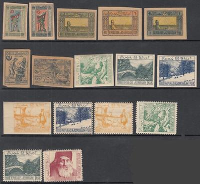 Azerbaijan pre-1924 mint collection 16 diff stamps