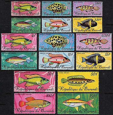 Burundi — Scott 186-201 — 1967 Fish Set Of 16— Mnh — Scv $42.20