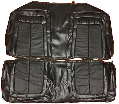 1970 Roadrunner Seat Covers Rear / Black Back Cover 70 Plymouth Superbird GTX