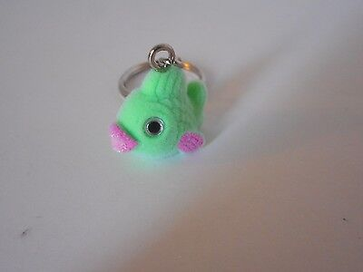 Adorable! key chain backpack purse decoration accessory flocked green fish