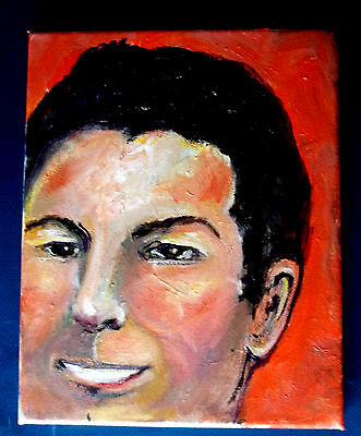 Gail Grant original  modern oil painting signed Portrait face  man DELIVERY GUY