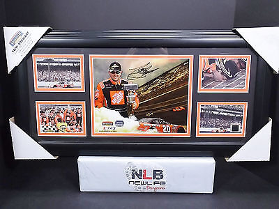 Tony Stewart Signed Framed Mounted Memories Display Autographed 12x24 ActualTire