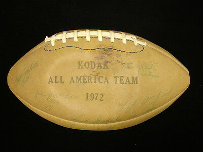 1972 College Kodak All-American Team Autographed Football - 23 Signatures!