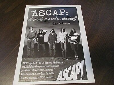 ASCAP - Gin Blossoms - New Miserable Experience 1994 Magazine Print Ad
