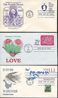 Lot of 19 US Artmaster Cachet First Day of Issue Covers | Dates 1975 - 1991