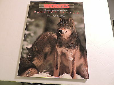 Wolves full color photos with text by Candace Savage softcover book used 159 pgs