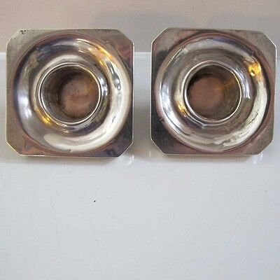 PAIR of STERLING SILVER SQUARE BOBECHE for Candle Wax Dripping Candlestick