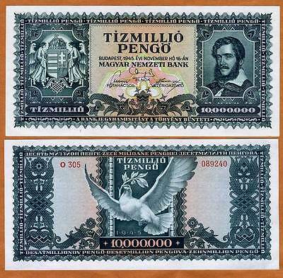 Hungary, 10,000,000 ( 10 million ) Pengo, 1945, P-123 UNC