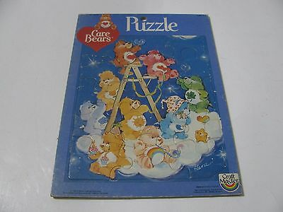 VINTAGE 1983 CARE BEARS FRAME TRAY PUZZLE by CRAFTMASTER  AMERICAN GREETINGS